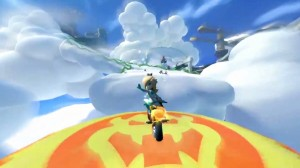 Rosalina waves to you goodbye before shooting off in front of you in 150cc mode