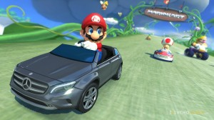If that's a full size Mercedes Benz, we're going to have to rethink how tall Mario is...