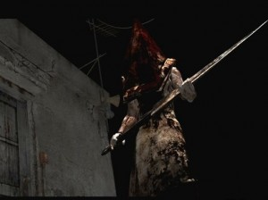 Pyramid Head. Probably as infamous as the Bloodied Nurses.