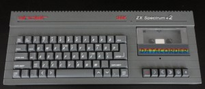 The ZX Spectrum, though the one pictured is a step up from the original 48K version